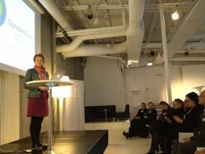 Anna-Karin Hatt på Signatärsforum 2013