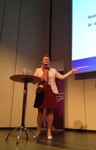 It- och energiminister Anna-Karin Hatt på PTS marknadsdag
