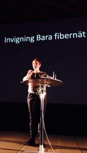 På invigning av Bara Fiberförening